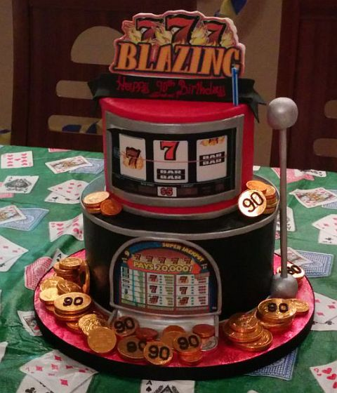 Slot Machine Cakes Designs
